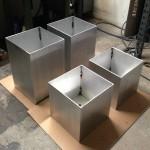 black aluminum planters5