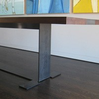 Walnut and Steel Dining Table thumbnail image