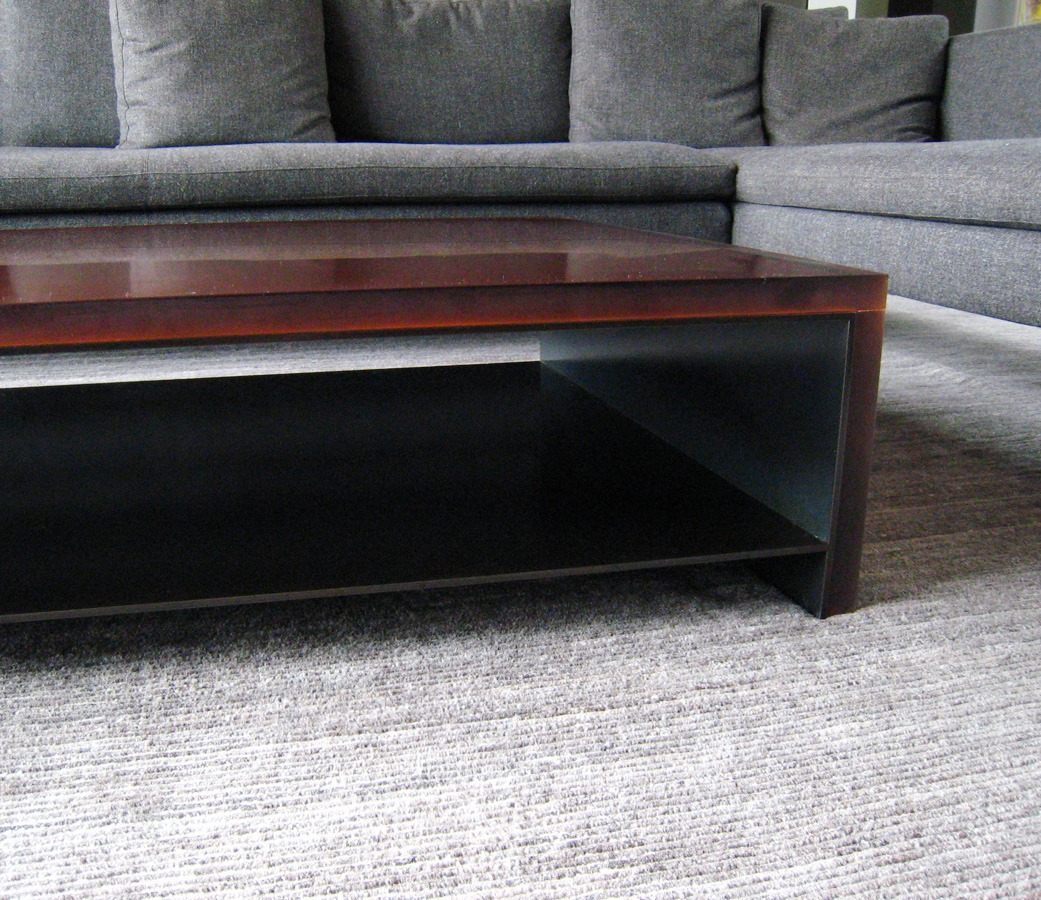 Fabricated Steel Coffee Table: Flux Design: Custom Fabrication In Portland, OR